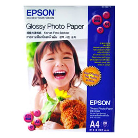 Giấy in ảnh EPSON GLOSSY PHOTO PAPER A4